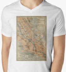 Vintage Karte von Tiflis, Georgien (1914) T-Shirt mit V-Ausschnitt