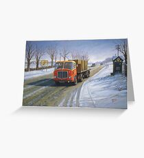 AEC Mandator in the snow. Greeting Card