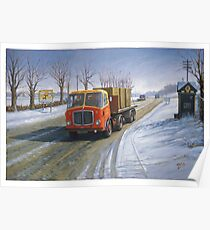 AEC Mandator in the snow. Poster