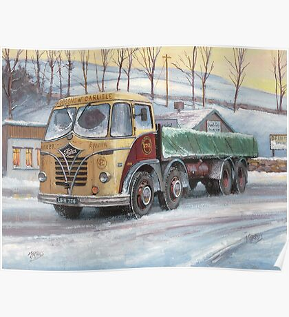 Foden S20 at the Jungle cafe Poster
