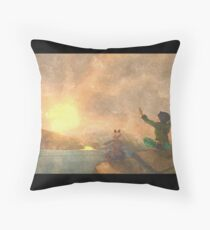 Yoga face to the Sun - 瑜伽面对太阳 Throw Pillow