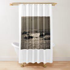 Lamlash Bay in the morning Shower Curtain