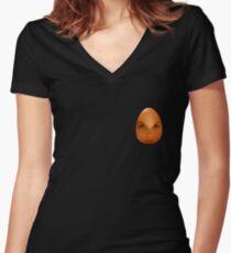Ten percent egg   Women's Fitted V-Neck T-Shirt