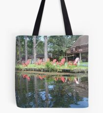The Red Chairs Tote Bag