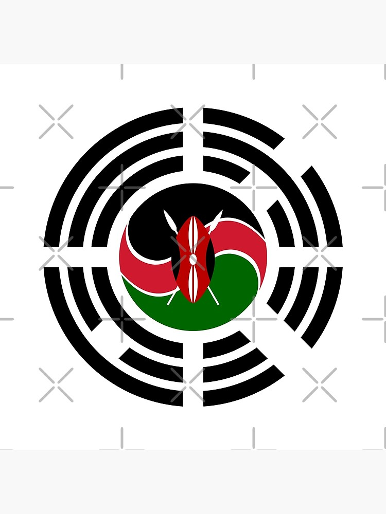 Kenyan Korean Multinational Patriot Flag Series by carbonfibreme