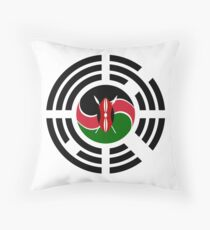 Kenyan Korean Multinational Patriot Flag Series Throw Pillow