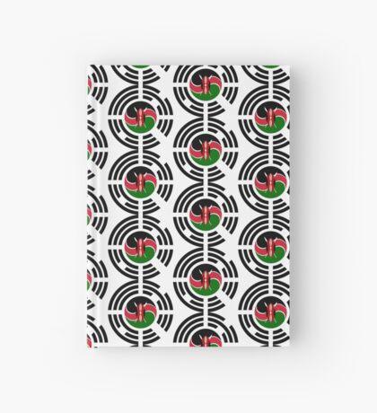 Kenyan Korean Multinational Patriot Flag Series Hardcover Journal