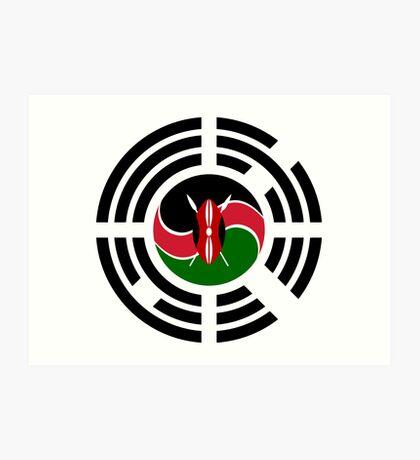 Kenyan Korean Multinational Patriot Flag Series Art Print