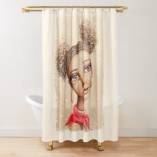 Curly Buns Shower Curtain