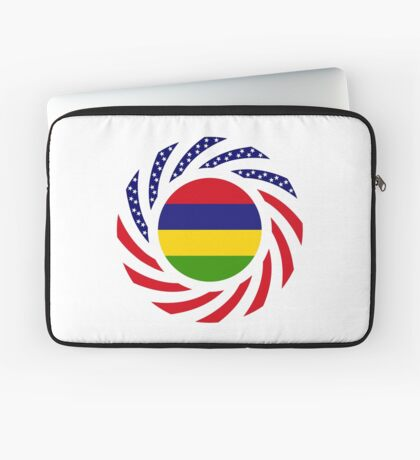Mauritian American Multinational Patriot Flag Series Laptop Sleeve