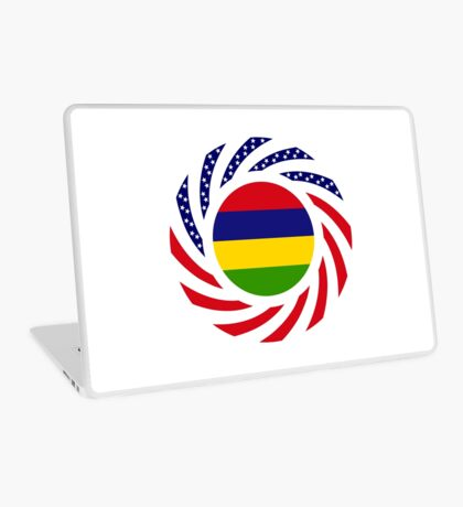 Mauritian American Multinational Patriot Flag Series Laptop Skin