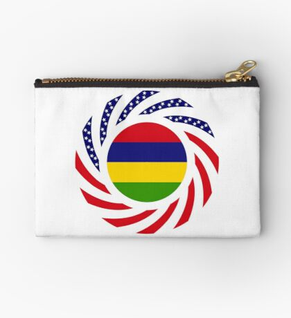 Mauritian American Multinational Patriot Flag Series Zipper Pouch