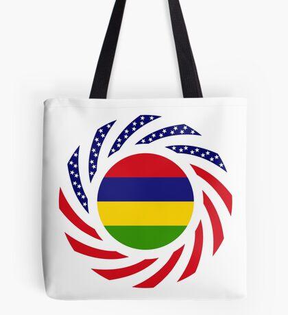 Mauritian American Multinational Patriot Flag Series Tote Bag