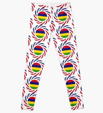 Mauritian American Multinational Patriot Flag Series Leggings