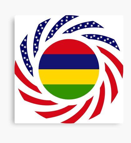 Mauritian American Multinational Patriot Flag Series Canvas Print