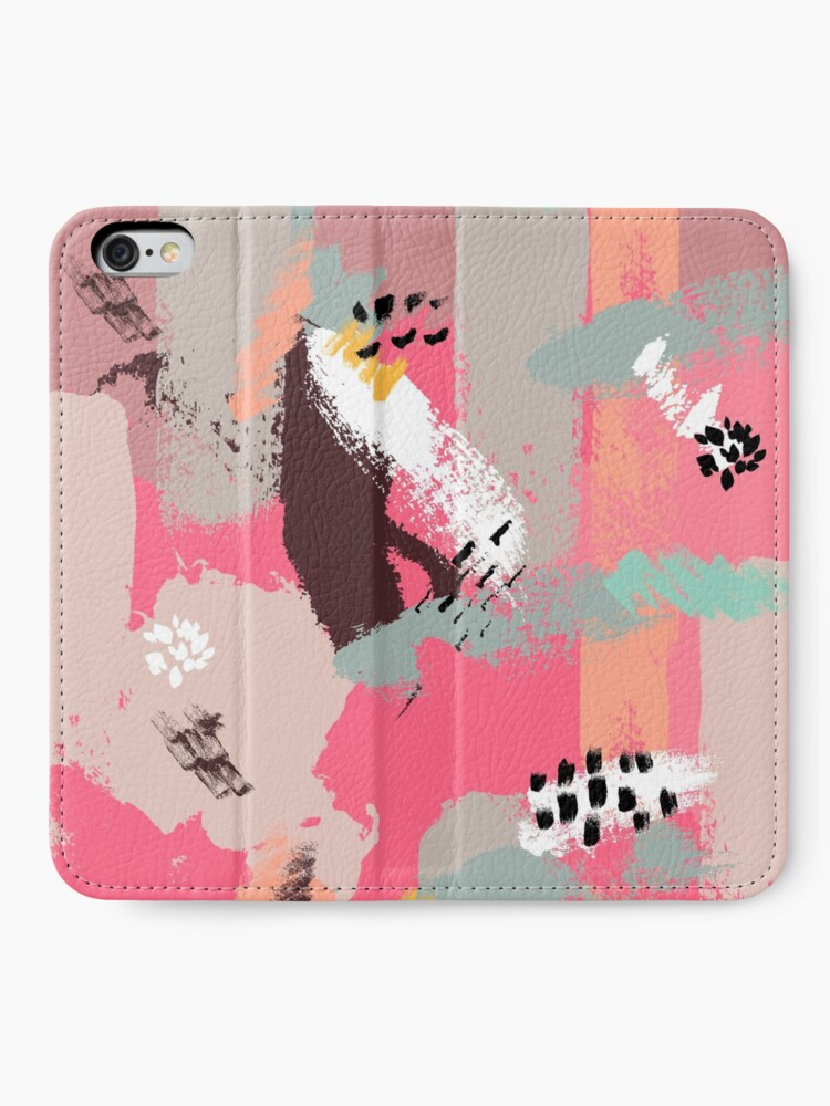 Alternate view of Modern Art iPhone Wallet