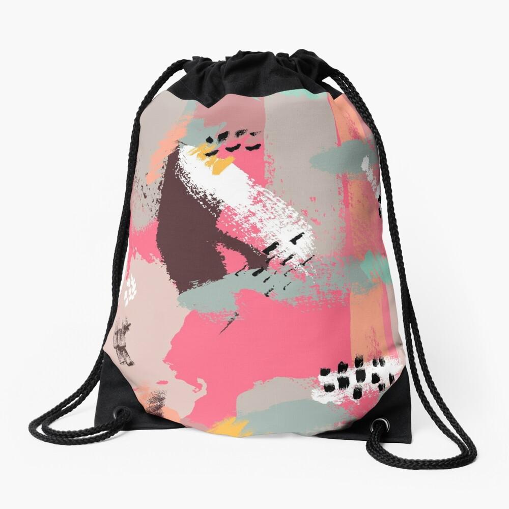 Modern Art Drawstring Bag