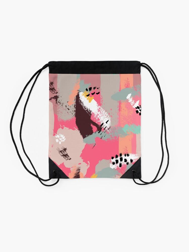 Alternate view of Modern Art Drawstring Bag