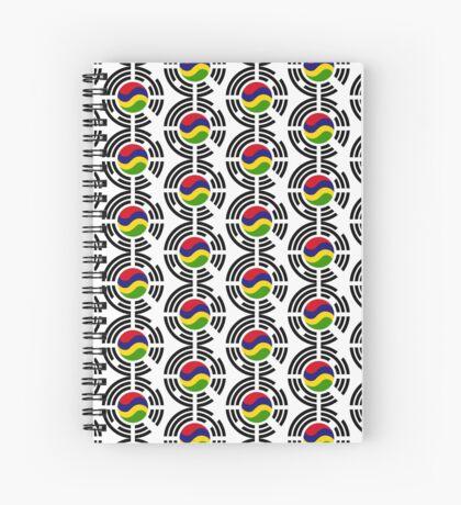 Mauritian Korean Multinational Patriot Flag Series Spiral Notebook
