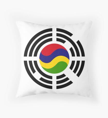 Mauritian Korean Multinational Patriot Flag Series Throw Pillow