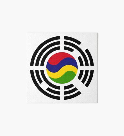 Mauritian Korean Multinational Patriot Flag Series Art Board Print