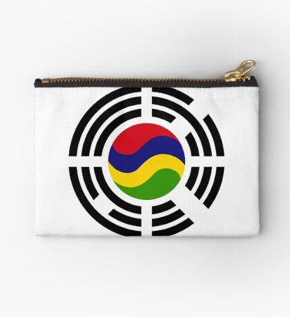 Mauritian Korean Multinational Patriot Flag Series Zipper Pouch
