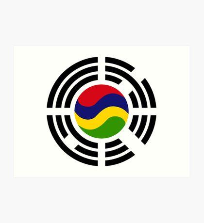 Mauritian Korean Multinational Patriot Flag Series Art Print