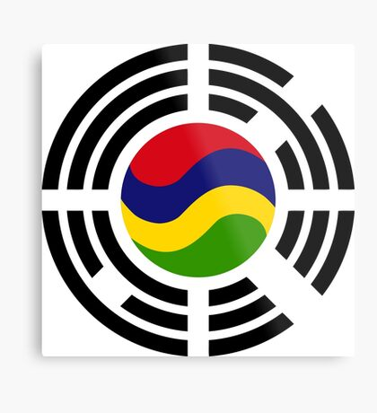 Mauritian Korean Multinational Patriot Flag Series Metal Print
