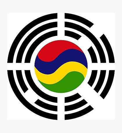 Mauritian Korean Multinational Patriot Flag Series Photographic Print