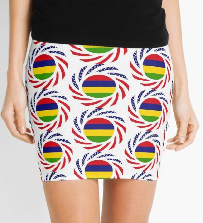 Mauritian American Multinational Patriot Flag Series Mini Skirt