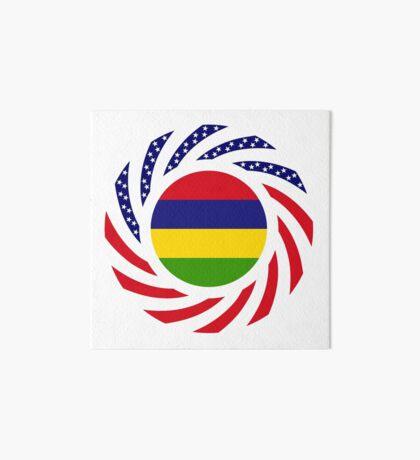 Mauritian American Multinational Patriot Flag Series Art Board Print