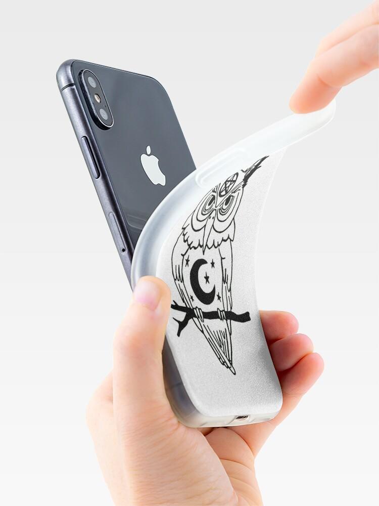 Vista alternativa de Vinilos y fundas para iPhone Búho pagano