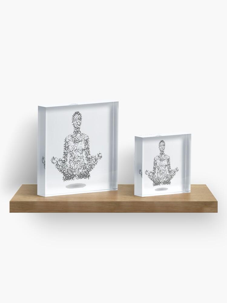 Bloc acrylique ''Meditation !': autre vue