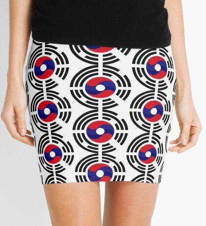 Lao Korean Multinational Patriot Flag Series Mini Skirt