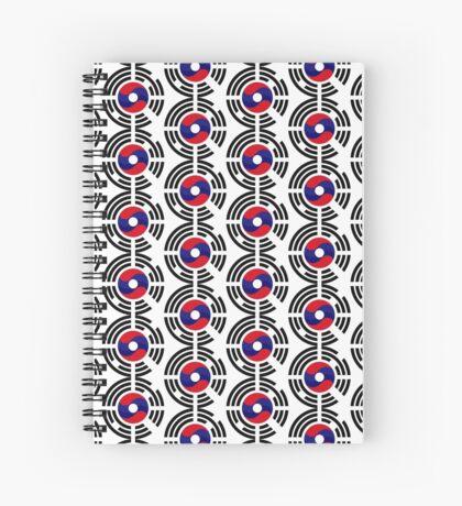 Lao Korean Multinational Patriot Flag Series Spiral Notebook