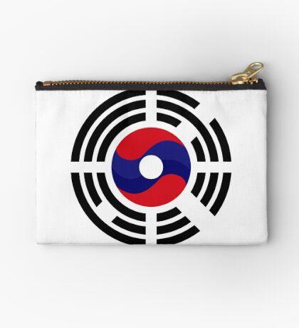 Lao Korean Multinational Patriot Flag Series Zipper Pouch