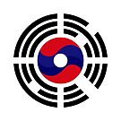 Lao Korean Multinational Patriot Flag Series by Carbon-Fibre Media