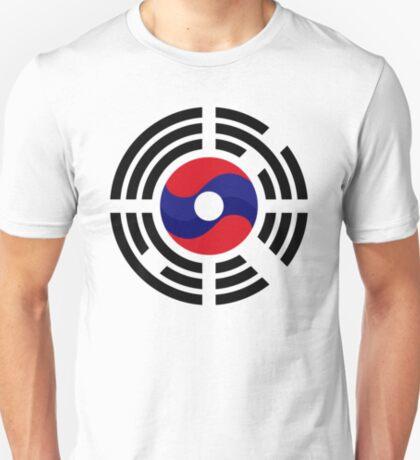 Lao Korean Multinational Patriot Flag Series T-Shirt