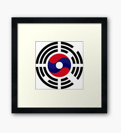 Lao Korean Multinational Patriot Flag Series Framed Print