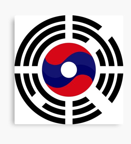 Lao Korean Multinational Patriot Flag Series Canvas Print