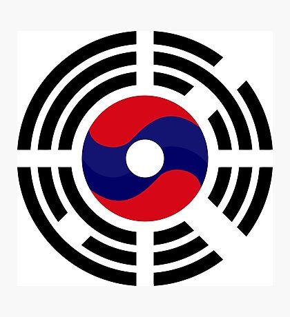 Lao Korean Multinational Patriot Flag Series Photographic Print