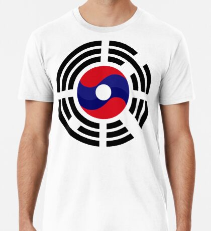 Lao Korean Multinational Patriot Flag Series Premium T-Shirt
