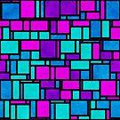 Jewel Tone Mondrian by KaleiopeStudio