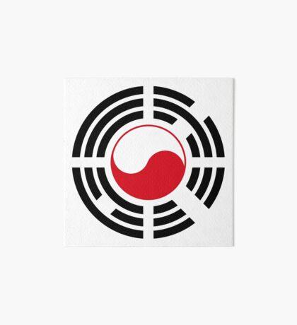 Polish Korean Multinational Patriot Flag Series Art Board Print