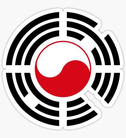 Polish Korean Multinational Patriot Flag Series Glossy Sticker