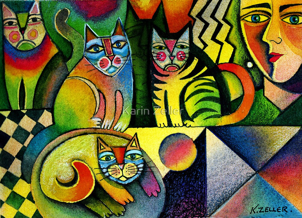 Me and my cats by Karin Zeller
