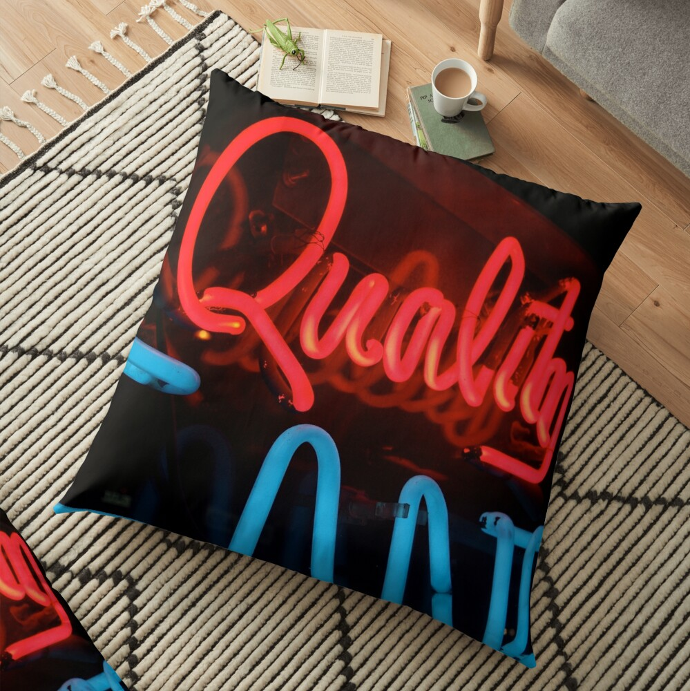 Quality in Neon Floor Pillow