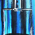 Blue Cologne Bottle by Ted Borges