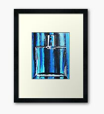 Blue Cologne Bottle Framed Print