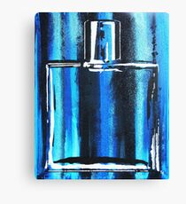 Blue Cologne Bottle Canvas Print